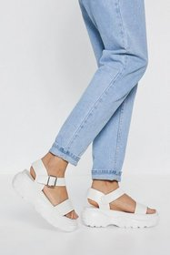 Nasty Gal Womens White Strappy and You Know It Chu
