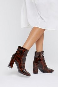 Nasty Gal Womens Brown It's a Block to Process Fau