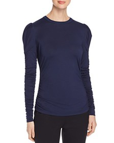 Elie Tahari - Daisy Ruched Knit Top