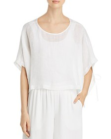 Eileen Fisher - Organic Linen Cropped Poncho Top