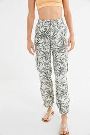 UO Palm Tree Linen Cargo Pant