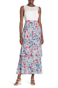 Willow & Clay Floral Tiered Maxi Skirt