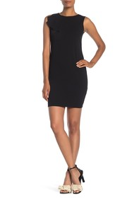 bebe Sassy Ruffle Detail Bodycon Mini Dress