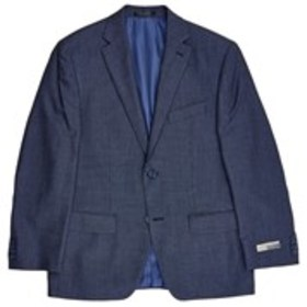 Mens Traditional Fit 2-Button Blue Sport Coat with