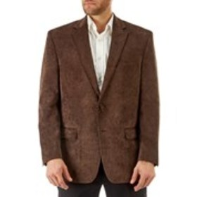 Mens Traditional Fit 2-Button Brown Sport Coat
