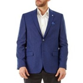 BEN SHERMAN Mens Traditional Fit 2-Button Blue Str