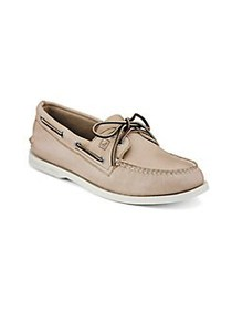 Sperry AO Leather Boat Shoes CREAM