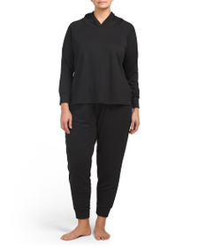 NICOLE MILLER French Terry Hoodie With Joggers