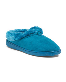 JOCKEY Faux Fur Slip On Slippers
