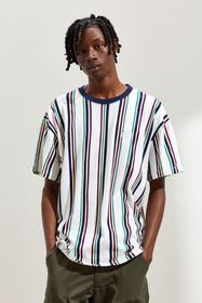 UO Dillon Embroidered Vertical Stripe Tee