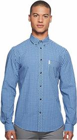 Ben Sherman Long Sleeve Gingham Mod Shirt MA10113A