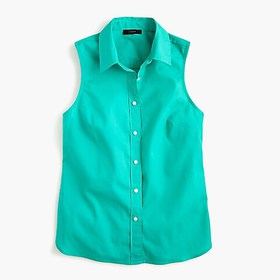 J. Crew Slim sleeveless perfect shirt in stretch c