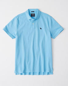 Relaxed Stretch Icon Polo, LIGHT BLUE
