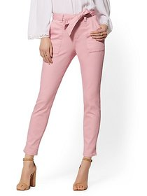 High-Waisted Super-Skinny Ankle Jeans - Pink - New