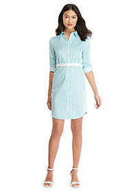 The Limited Petite Striped Shirt Dress