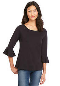The Limited Petite 3/4 Ruffle Sleeve Top