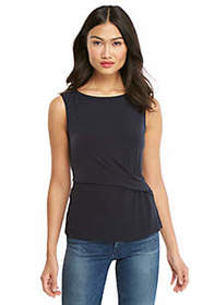 The Limited Petite Side Ruched Shell Top