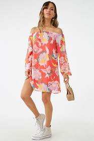 Forever21 Floral Off-the-Shoulder Mini Dress