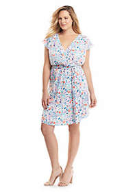 The Limited Plus Size Printed Flutter Dress