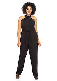 The Limited Plus Size Halter Jumpsuit