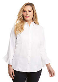 The Limited Plus Size Fashion Woven Button Down