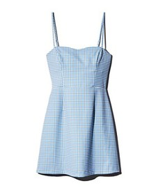 FRENCH CONNECTION - Whisper Tie-Back Gingham Mini