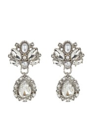Marchesa Crystal & Imitation Pearl Drop Earrings