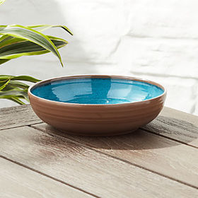Crate Barrel New Caprice Aqua Melamine Bowl