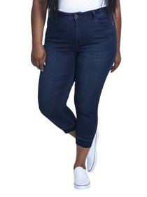 Women's Plus Size High Rise Skinny Crop with Relea
