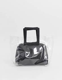 Yoki plastic strucuted tote bag with insert