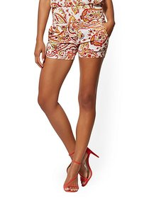 4 Inch Whitney Short - High-Waisted Pull-On - Pais