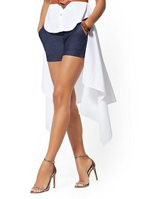 4 Inch Whitney Short - Navy High-Waisted Pull-On -