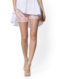 4 Inch Whitney Short - Mini-Floral High-Waisted Pu