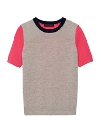 Cashmere Short-Sleeve Sweater