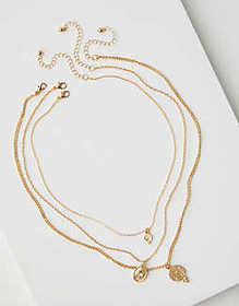 American Eagle AEO Layered Coin Necklace