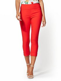 High-Waisted Pull-On Crop Pant - New York & Compan