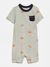 Baby Print Shorty One-Piece