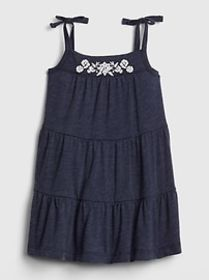 Baby Embroidered Tiered Dress