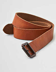 American Eagle AEO Distressed Riveted Leather Belt