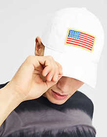 American Eagle AEO Flag Patch Strapback Hat