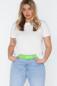 Nasty Gal Womens Green All Eyes Neon You Clear Buc
