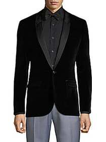 HUGO BOSS Arti Shawl Collar Velvet Sport Coat BLAC