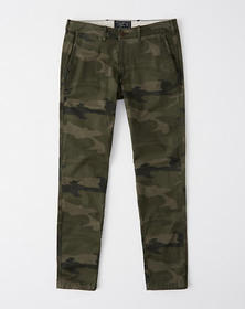 Super Skinny Camo Chino Pants, OLIVE GREEN CAMO