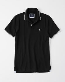 Stretch Icon Polo, BLACK
