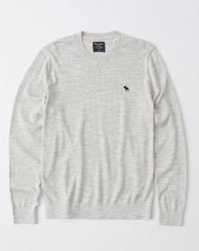 Icon Crew Sweater, LIGHT GREY