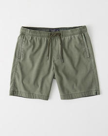All-Wear Pull-On Shorts, OLIVE GREEN