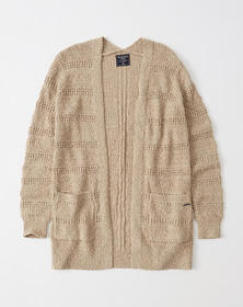 Easy Stitched Cardigan, TAN