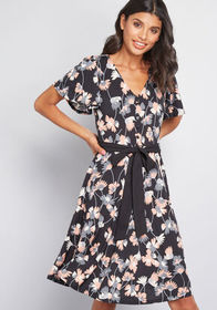 Casually Sweet Knit Dress Black Floral