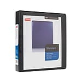 Staples Standard 1 1/2 3-Ring View Binder, Black (