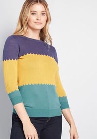 ModCloth Charm School 3/4 Sleeve Pullover in Color
